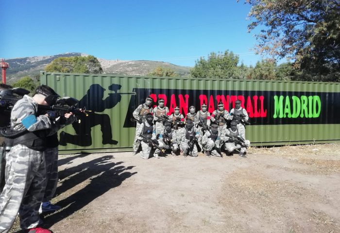 mural paintball madrid