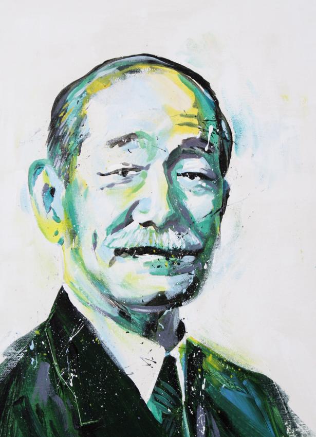 Retrato jigoro kano
